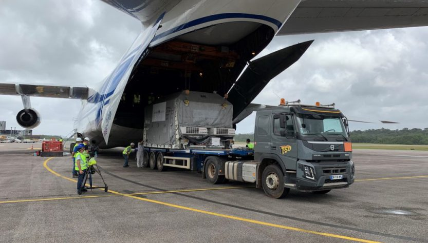OneWeb satellites arrive in French Guiana (Source: OneWeb Twitter feed)