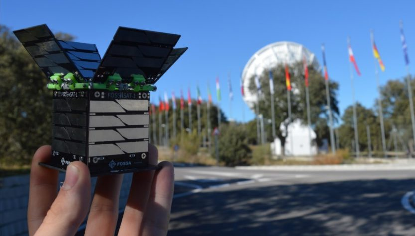FOSSASAT-1 picosatellite (Source: FOSSA Systems)