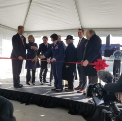 December 12 ribbon cutting ceremony at NASA Wallops for Rocket Lab LC-2 pad (Source: Doug Mohney)
