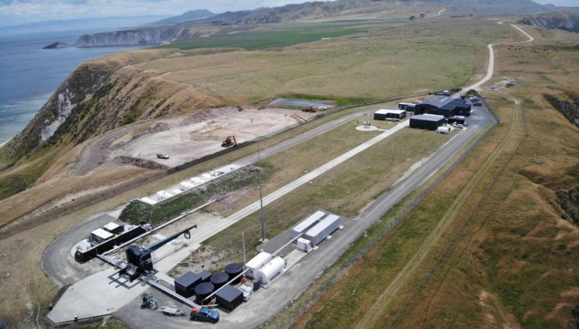 Construction start on pad by at Rocket Lab LC-1 complex (Source: Rocket Lab)