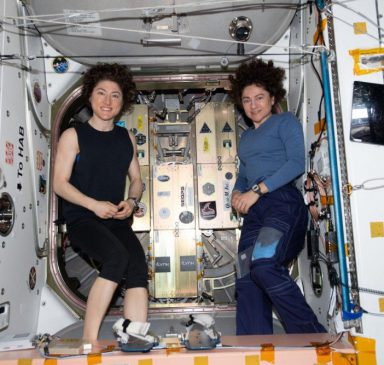 Astronauts at ISS with Lynk NG12 payload (Source Lynk Global)
